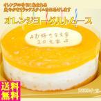 誕生日ケーキ バースデーケーキ プレート付 オレンジヨーグルトムースケーキ5号 15cm