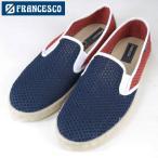 FRANCESCO フランチェスコ ーメッシュ スリップオン MESH SLIP ON エスパドリーユ ネイビー レッド スニーカー スペイン製 靴