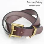 Martin Faizey マーティン フェイジー クイック リリース ベルト1,25inch Quick Release Belt   A.NUT/BRASS ブラウン/ゴールド