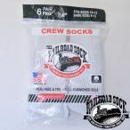 レイルロードソック (RAILROAD SOCK)  アメリカ製 クルーソックス靴下  6足セット CREW SOCKS MEN'S 6 PAIR グレー GREY