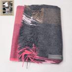 ショッピングブランケット Silkeborg Plaids シルケボープレード ベビーアルパカ ブランケット チャコール ピンク AMANDA Baby Alpaca BLANKET CARCOAL PINK スローケット