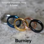 ステンレス リング 指輪 サージカルステンレス ペアリングに フラッティング リング 平打ちリング