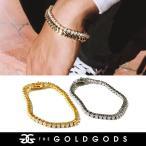 ブレスレッド メンズ 腕輪 ブリンブリン hiphop b系 ヒップホップ ジュエリー ゴールド 18金 コーティング THE GOLD GODS 父の日