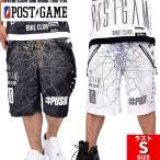 ポストゲーム POSTGAME ハーフパンツ メッシュ ジャージ P34104 ヒップホップ B系ファッション 大きいサイズ