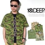 シャツ メンズ テンディープ 10DEEP 迷彩柄 シャツ メンズ 半袖 カモ柄 22TD3201