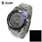 送料無料 ELGIN エルジン 世界38都市対応ワールドタイム ソーラー電波腕時計 FK1414S-BP