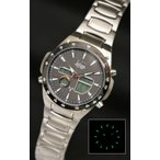 送料無料 エルジン ELGIN 世界38都市対応ワールドタイム 電波ソーラー メンズ 腕時計 FK1416S-BP