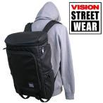 送料無料 VISION STREET WEAR/ヴィジョン ストリート ウェア 28L ボックス型 スクエア リュック ブラックレーベル VSBL506N BK