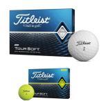 -- 2ダース購入で送料無料 --タイトリスト Titleist ゴルフボール ツアーソフト 1ダース 12球入り TOUR SOFT 2020年モデル