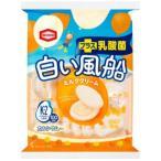 ネコポス-送料無料 白い風船 18枚入 プラス乳酸菌 ミルククリーム 亀田製菓
