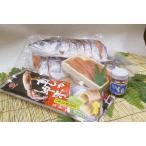 【送料無料】オホーツクセット1(新巻鮭[秋鮭]半身約1.0kg/極上たらこ300g/いくら醤油漬100g/函館真イカ沖漬1ハイ)「ギフトに最適」
