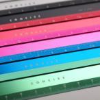 コンサイス 定規 アルミ 12cm アルミフラットスケール かわいい おしゃれ デザイン文具 事務用品