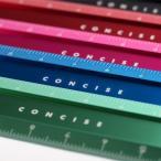 コンサイス 定規 アルミ 15cm アルミフラットスケール かわいい おしゃれ デザイン文具 事務用品