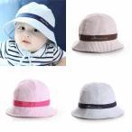 ベビー 子供 サマーハット ブルー ピンク ブラウン 春夏 帽子