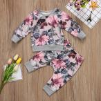 子供 ベビー服 キッズ服 花柄 セットアップ パジャマ 上下セット 女の子 赤ちゃん