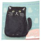 繰り返し使える ポケットカイロ クロネコ JW-325-169 BK 黒猫 かわいい カバー付き フレンズヒル キャラクター グッズ ネコポス可