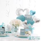 バルーン 誕生日 バルーン 結婚式のバルーン 電報に バルーンアレンジ・Tiffanyブルー&lovelyピンクバルーン・