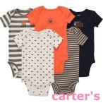 カーターズ Carter's ボディースーツ 半袖 5枚組 フットボールシリーズ ボディスーツ(ロンパース)3M〜24M メール便無料