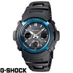 ショッピングShock G-SHOCK CASIO カシオ・Gショック ブラック×ブルー AWG-M100BC-2AJF 国内正規モデル