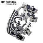 M's collection エムズコレクション-ミニッツライン 王冠フープ シルバー ピアス