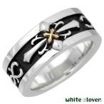 white clover ホワイトクローバー クロスGコンビ シルバー リング 指輪