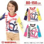 子供服 袖クレイジーロンT SALE-男の子 女の子 ベビー キッズ ベビードール BABYDOLL-8654K(150cmあり)