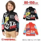 子供服 ワッペン総柄ジップジャケット SALE-ベビー キッズ ベビードール BABYDOLL-8637K(150cmあり)