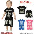 子供服 ネオンプリントセットアップ-ベビー キッズ ベビードール BABYDOLL-9081K