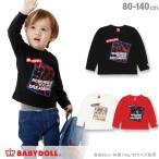 50%OFF SALE ベビードール BABYDOLL 子供服 親子お揃い 貼付 ロゴ トレーナー 0975K キッズ 男の子 女の子
