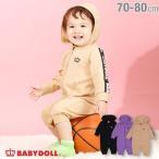 ベビードール BABYDOLL 子供服 ロンパース ロゴテープ 4474B ベビーサイズ 男の子 女の子