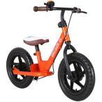 ダットサン ファーストバイク12 オレンジ バランスバイク ランニングバイク 子供用 ブレーキ スタンド ベル付き