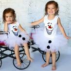 ベビーキッズ洋服 女の子用チュチュ ドレス コスプレ衣装 コスチューム ワンピース アナと雪の女王のオラフなっちゃおうヨーロッパ直輸入 赤ちゃん、子