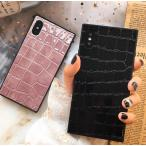 大人可愛い☆クロコ ワニ柄 スマホケース iPhoneケース スマホカバー☆アイフォン  iPhone7 iPhone8 iPhoneX XS iPhoneXR