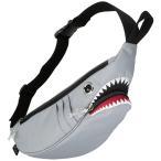 ショッピングウエストポーチ ウエストポーチ MORN CREATIONS シャーク ウエストポーチ モーンクリエイションズ サメ ショルダーバッグ グレー