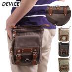 DEVICE メガ シザーケース 7インチタブレット対応 チョークバッグ シザーバッグ メンズブランド キャンバス バッグ ヒップバッグ