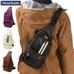 ボディバッグ メンズ フェイクレザー 小さめ ボディ レディース 合成皮革 軽量 軽い ボディバック ヴァーチャルリアリティ VIRTUAL REALITY