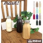 mosh モッシュ ステンレスマグボトル ステンレスボトル マグボトル 350ml 保温 保冷 ミルク瓶型 軽量 スクリュー式 スリム コンパクト 魔法瓶 直飲み 水筒 mosh