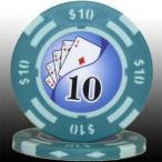 フォースポット ポーカーチップ( 10 $)1枚売り - カジノ、ポーカー用