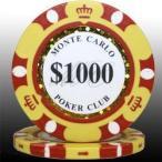 モンテカルロ ポーカーチップ(1000)黄 25枚セット - カジノ、ポーカー用