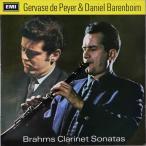 ド・ペイエ&バレンボイムのブラームス/クラリネットソナタ集 英EMI 2741 LP レコード