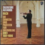 アッカルドのバッハ/無伴奏ヴァイオリンのためのソナタ&パルティータ全集 蘭PHILIPS 2747 LP レコード
