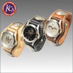 ケイシイズ KPR004-3コンチョ レザーブレスウォッチ バスケット,KC's,レザーグッズ,革,ウォレット,キーホルダー,スマホケース,コインケース,キーケース