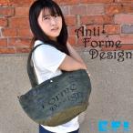 トートバッグ ショルダーバッグ レディース 帆布 麻製 ロゴバッグ アンチフォルムデザイン 3903352