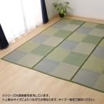 い草花ござカーペット ラグ 『DXピーア』 ブルー 本間8畳(約382×382cm) 4323918