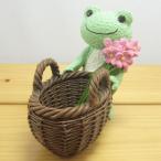 かえるのピクルス(カエルのピクルス) クラフトシリーズ レジンドール ピクルス カゴ カエル雑貨 の置物 おしゃれ