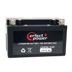 PERFECT POWER リチウムイオンバッテリー LFP7A-BS 互換 ユアサYTX7A-BS FTX7A-BS即使用可 マジェスティ125 シグナスX(SE12J)バイクバッテリー