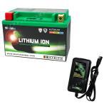 バイクバッテリー 充電器セットSKYRICH【スカイリッチ専用充電器】+リチウムイオンバッテリー互換 ユアサ YTX9-BS GTX9-BS