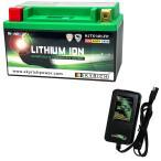 バイクバッテリー充電器セットSKYRICH【スカイリッチ専用充電器】+リチウムイオンバッテリー互換 ユアサYTX14-BS FTX14-BS GTX14-BS