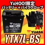 グローブ付! YUASAユアサ YTX7L-BS 互換DTX7L-BS FTX7L-BS GTX7L-BS マグナ250 バリオス Dトラッカー 250TR ホーネット250 初期充電済 即使用可能