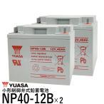 台湾 YUASA ユアサ NP40-12B 2個セット◆新品◆セニアカー用バッテリー◆互換 NP38-12 SER38-12 SC38-12 HC38-12